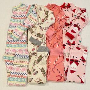 Lot of toddler girl pajamas, 4T